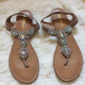 Madden pink crystal sandals size 8